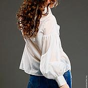 Одежда ручной работы. Ярмарка Мастеров - ручная работа Блузка белая батистовая. Handmade.