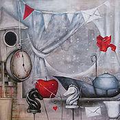 Картины и панно ручной работы. Ярмарка Мастеров - ручная работа Лучшее время для сказок и чая:). Handmade.