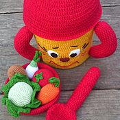 """Куклы и игрушки ручной работы. Ярмарка Мастеров - ручная работа Набор для игр """"Поваренок"""".. Handmade."""