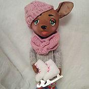 Куклы и игрушки ручной работы. Ярмарка Мастеров - ручная работа кофейная собачка. Handmade.