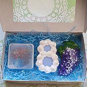 Косметика ручной работы handmade. Livemaster - original item Set soap in box lavender bouquet on March 8. Handmade.