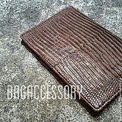 handmade. Livemaster - original item Passport cover leather lizard. Handmade.