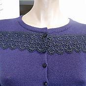 Одежда ручной работы. Ярмарка Мастеров - ручная работа Кофта вязаная с кружевом. Handmade.