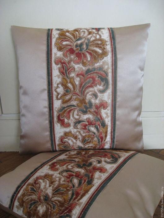 """Текстиль, ковры ручной работы. Ярмарка Мастеров - ручная работа. Купить Две декоративные подушки """"Узоры""""- комплект, 2 подушки.. Handmade."""