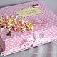 """Подарки для новорожденных, ручной работы. Ярмарка Мастеров - ручная работа. Купить Шкатулочка для хранения маминых сокровищ """"Горошинка"""". Handmade. Розовый"""