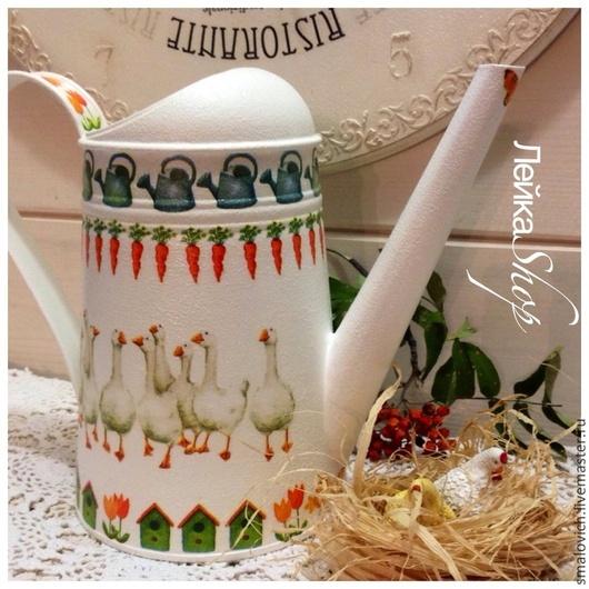 """Лейки ручной работы. Ярмарка Мастеров - ручная работа. Купить """" Гуси)))"""" леечка. Handmade. Лейка, цветы, ваза"""