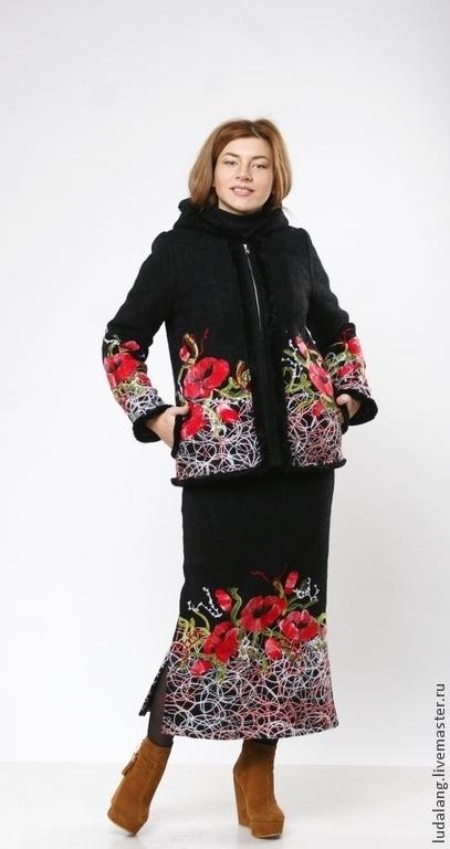 юбка с маками, тёплая юбка, оригинальная юбка, модная юбка, курган-каприз, зимняя юбка, зимняя мода, мода 2017, авторские штучки