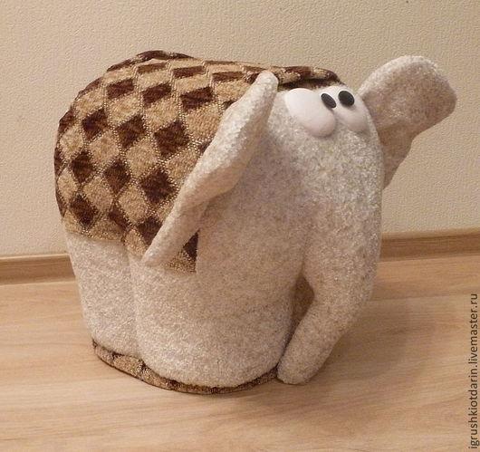 Детская ручной работы. Ярмарка Мастеров - ручная работа. Купить Пуф Слон высота 40 см, мягкий, внутри деревянный каркас. Handmade.