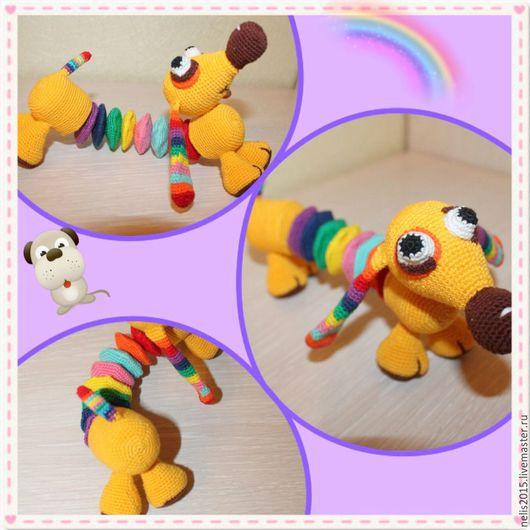 Развивающие игрушки ручной работы. Ярмарка Мастеров - ручная работа. Купить Собака Радуга. Handmade. Комбинированный, собака игрушка, радужная