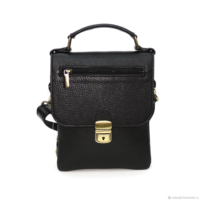 d59f8b9ab2618 Men's Bags handmade. Livemaster - handmade. Buy Men's leather black Clatis  Mod bag.