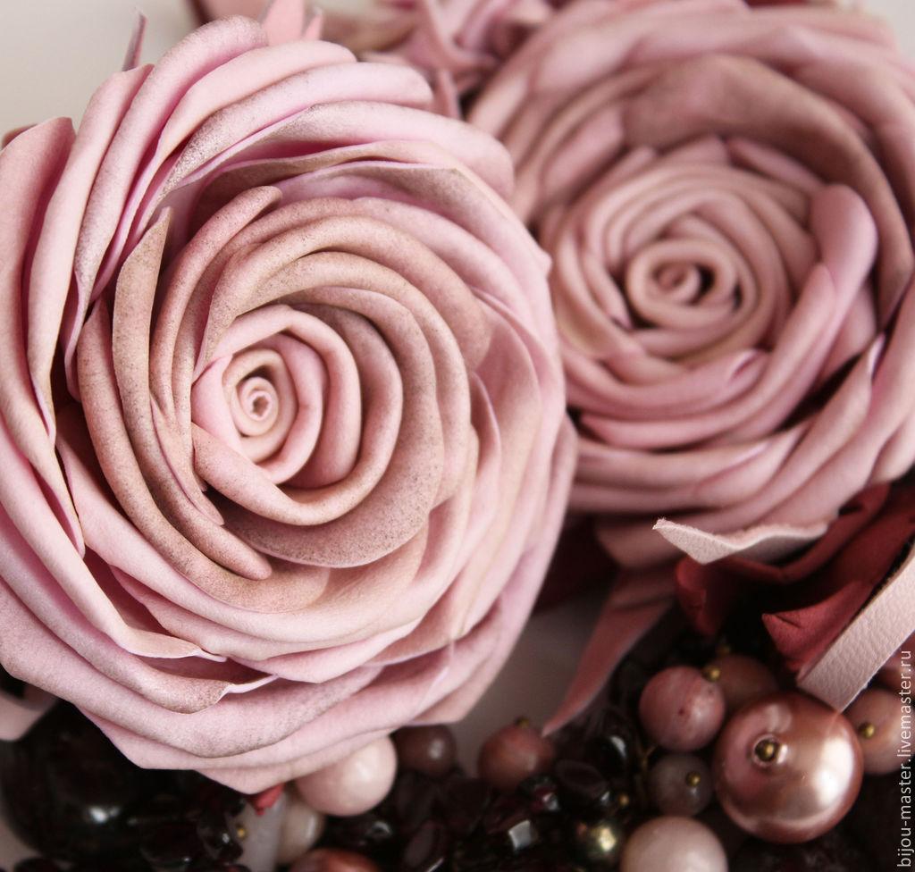 Роза из кожи своими руками 262