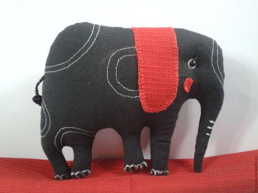 Игрушки животные, ручной работы. Ярмарка Мастеров - ручная работа. Купить Слон.Игрушка по мотивам работы TerryRunyan. Handmade. Черный