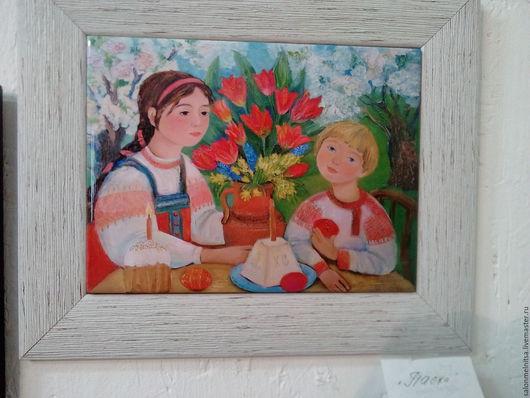 Репродукции ручной работы. Ярмарка Мастеров - ручная работа. Купить Пасха. Handmade. Комбинированный, утренний кофе, садовые цветы, дерево