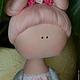 Куклы тыквоголовки ручной работы. Тыквоголовка,,Китти,,. Елена (elenadollworld). Ярмарка Мастеров. Текстильная кукла, тыквоголовая кукла, кружево эластичное