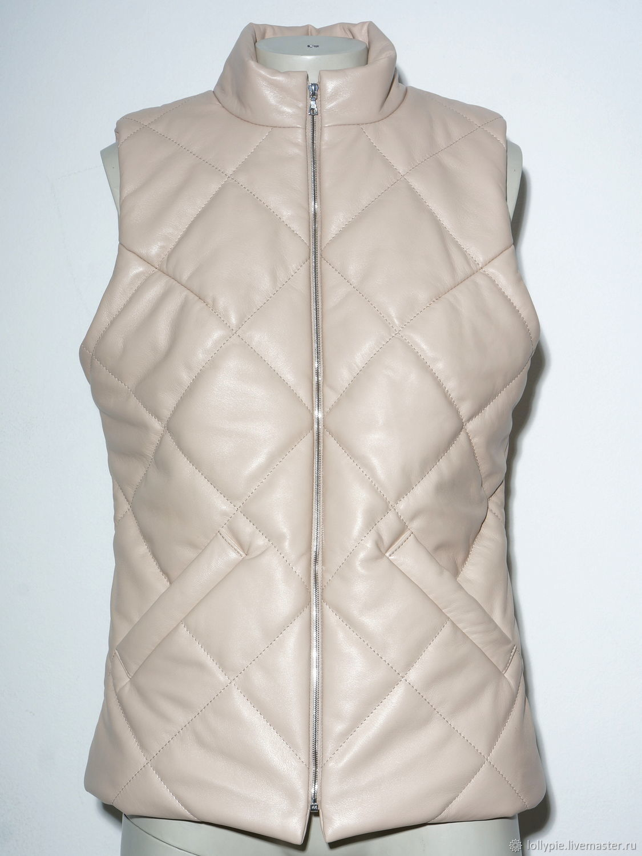 vests: Women's Leather Down Vest, Vests, Moscow,  Фото №1