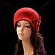 """Шляпы ручной работы. Ярмарка Мастеров - ручная работа. Купить Шляпа """" Вкус вишни"""". Handmade. Бордовый, велюровая шляпа"""