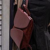 Рюкзаки ручной работы. Ярмарка Мастеров - ручная работа Городской рюкзак бордовый. Handmade.