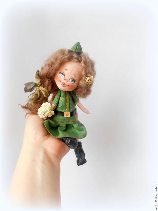 Коллекционные куклы ручной работы. Ярмарка Мастеров - ручная работа. Купить Чудо на ладошке С Победой!!!!(повтор). Handmade. Хаки