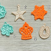 Сумки и аксессуары handmade. Livemaster - original item Charm pendant end embroidery applique angel clover horseshoe star. Handmade.