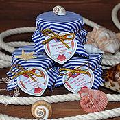 Свадебный салон ручной работы. Ярмарка Мастеров - ручная работа Бонбоньерка в морском стиле. Handmade.