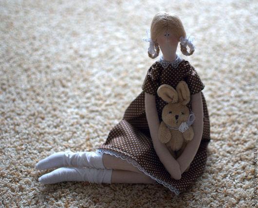 Куклы Тильды ручной работы. Ярмарка Мастеров - ручная работа. Купить Дашуня. Handmade. Коричневый, кукла Тильда, трикотаж