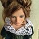 Коллекционные куклы ручной работы. Кукла из пластика Джулия. Татьяна Ткаченко. Ярмарка Мастеров. Авторская кукла, тёмно-бирюзовый