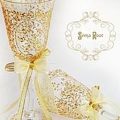 Свадебный салон ручной работы. Ярмарка Мастеров - ручная работа Бокалы на Золотую Свадьбу. Handmade.