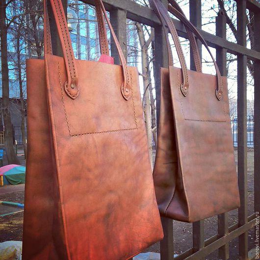 Женские сумки ручной работы. Ярмарка Мастеров - ручная работа. Купить сумка кожаная для документов. Handmade. Однотонный, сумка