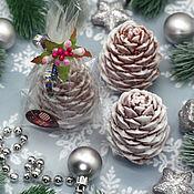 Косметика ручной работы handmade. Livemaster - original item Soap Christmas volumetric Pine cone. Handmade.