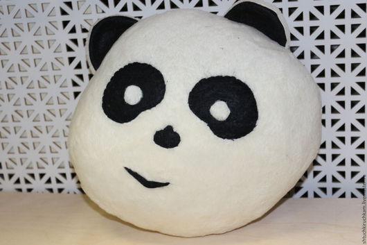 """Текстиль, ковры ручной работы. Ярмарка Мастеров - ручная работа. Купить Подушка """"Панда"""". Handmade. Белый, Подушки, подарок"""