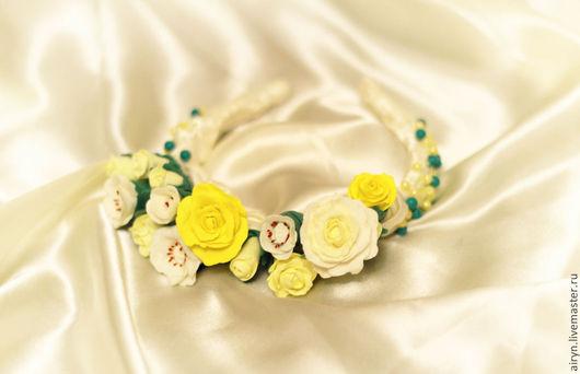 Свадебные аксессуары ручной работы. Ярмарка Мастеров - ручная работа. Купить Весенние цветы. Handmade. Желтый, лимонная свадьба