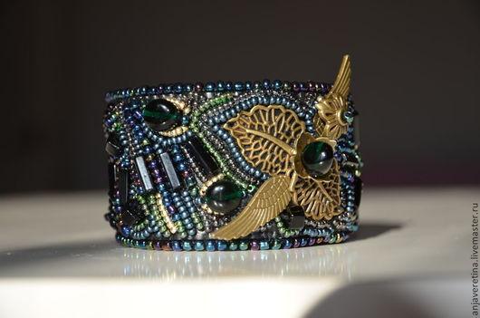 """Браслеты ручной работы. Ярмарка Мастеров - ручная работа. Купить браслет """"Бронзовые крылья"""". Handmade. Разноцветный, браслет из бисера"""
