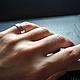 Кольца ручной работы. Ярмарка Мастеров - ручная работа. Купить Basic - кованое кольцо (серебро 925 пробы). Handmade. Серебро