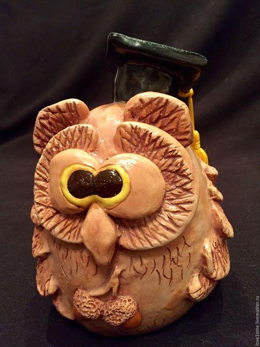 """Статуэтки ручной работы. Ярмарка Мастеров - ручная работа. Купить """"Мудрейшая сова"""" керамическая статуэтка ручной работы. Handmade. Сова"""