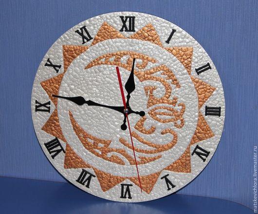 """Часы для дома ручной работы. Ярмарка Мастеров - ручная работа. Купить Часы """"Солнце и месяц"""". Handmade. Настенные часы купить"""