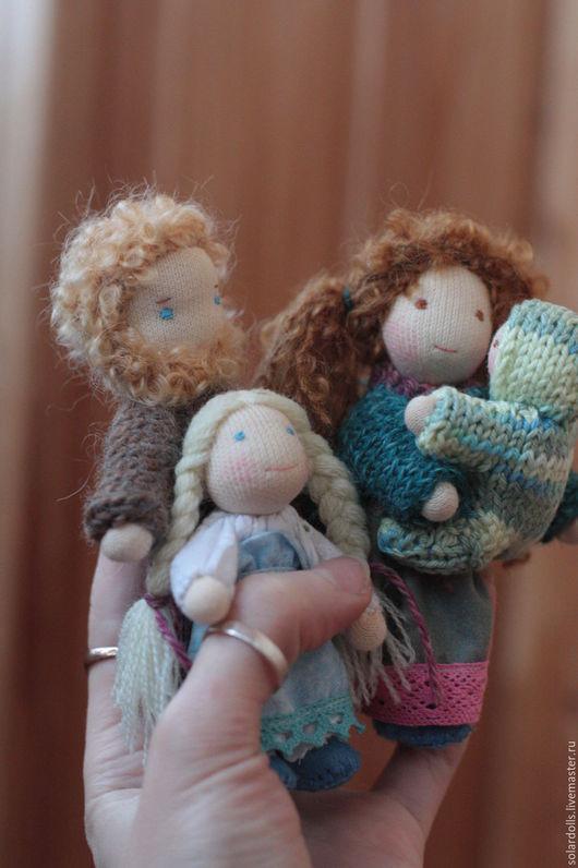 Вальдорфская каркасная  кукла ручной работы. 11.5-6.5 см. SolarDolls, (Julia Solarrain)
