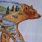 """Картины и панно ручной работы. Ярмарка Мастеров - ручная работа Пейзаж """"Хозяин тайги"""". Handmade."""