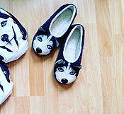 Обувь ручной работы. Ярмарка Мастеров - ручная работа Тапочки хаски. Handmade.