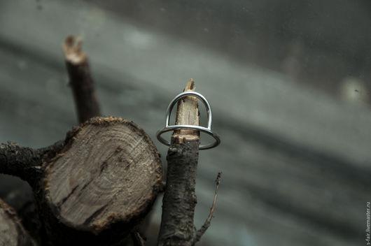 Кольца ручной работы. Ярмарка Мастеров - ручная работа. Купить Серебряное кольцо - арка. Handmade. Серебряный, туманное утро, примитивизм