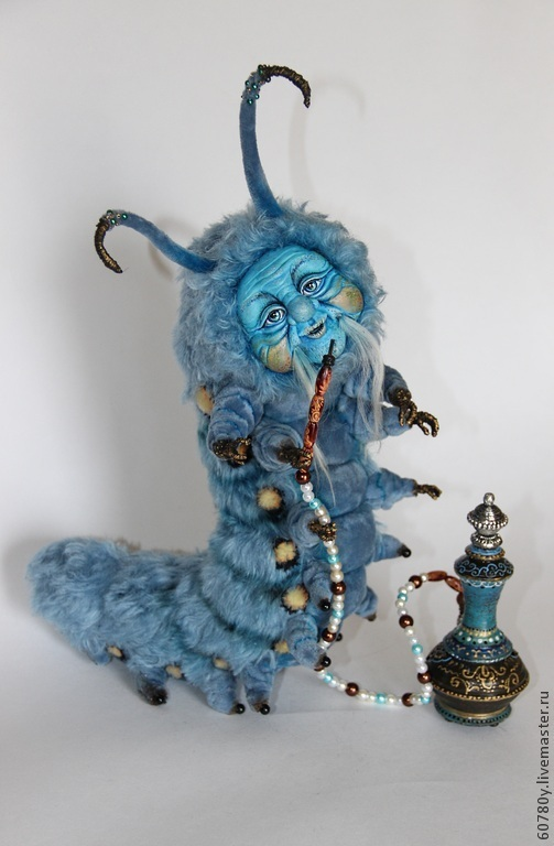 Коллекционные куклы ручной работы. Ярмарка Мастеров - ручная работа. Купить Абсолем ( синяя гусеница). Handmade. Синий, алиса