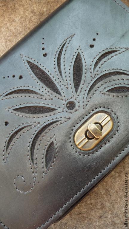 Женские сумки ручной работы. Ярмарка Мастеров - ручная работа. Купить Чёрная. Handmade. Черный, кожаная сумочка