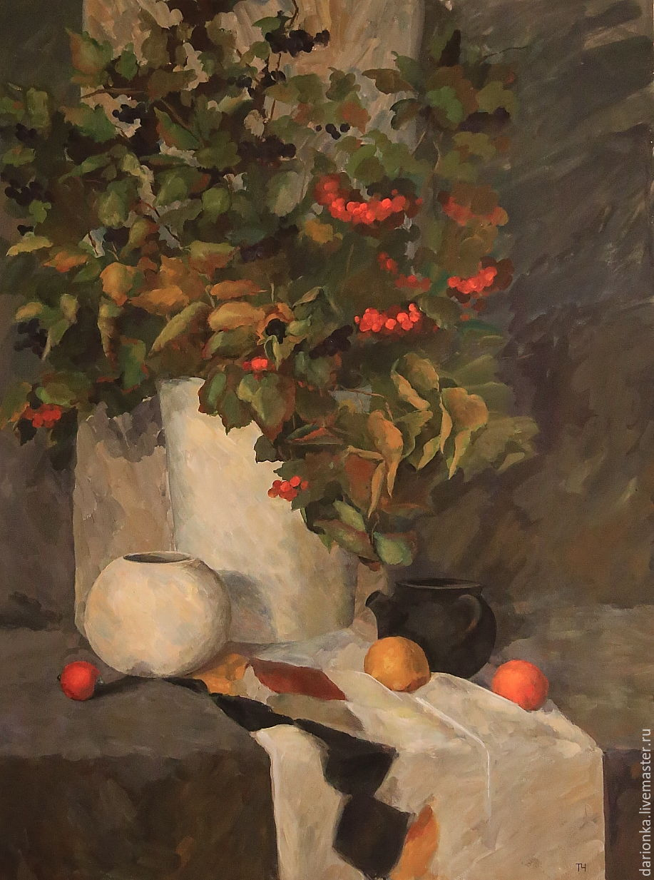 Autumn still life. 100h75 cm. Tempera, Canson paper, Pictures, Moscow,  Фото №1