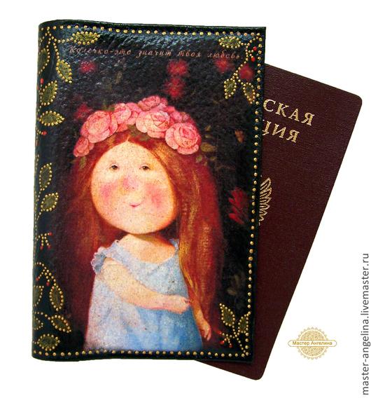 """Обложки ручной работы. Ярмарка Мастеров - ручная работа. Купить Обложка на паспорт """"Колечко это твоя любовь"""". Подарок любимой девушке.. Handmade."""