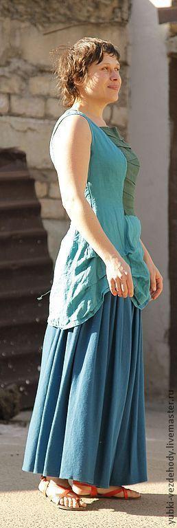 Платья ручной работы. Ярмарка Мастеров - ручная работа. Купить Платье-туника Морской конёк. Handmade. Тёмно-бирюзовый