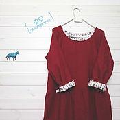 Одежда ручной работы. Ярмарка Мастеров - ручная работа тёмно-красное шерстяное. Handmade.