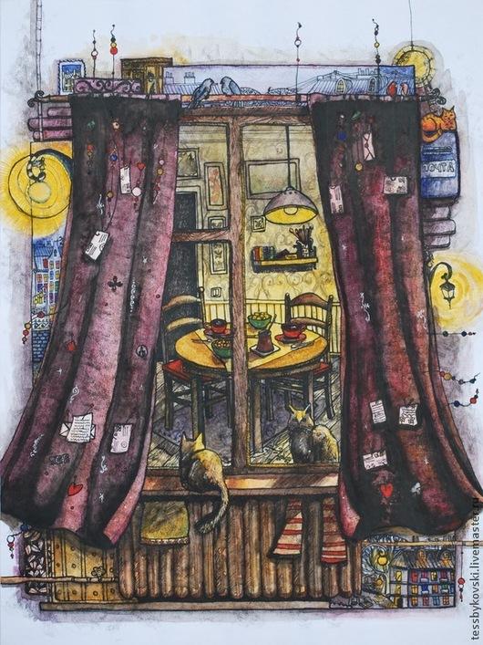 Холодные сумерки пахнут кофе (серия `Окна`) автор Тася Быковски