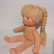 Куклы и игрушки ручной работы. Ярмарка Мастеров - ручная работа Голышка вальдорфская кукла 32 см ПРОДАНА. Handmade.