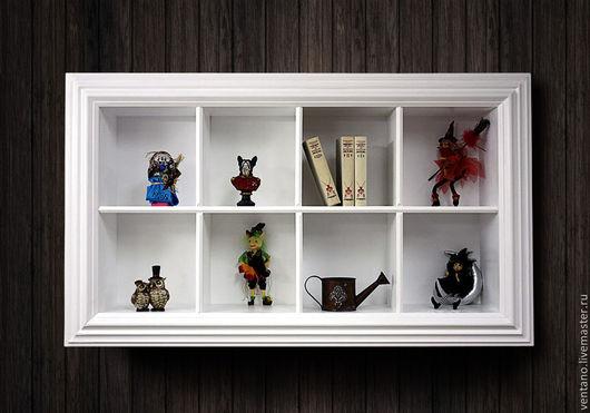 """Мебель ручной работы. Ярмарка Мастеров - ручная работа. Купить Полка - витрина """"Зефирка"""" цена этого изделия 32000,00 рублей. Handmade."""
