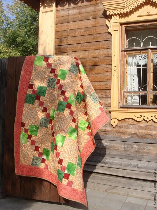 """Текстиль, ковры ручной работы. Ярмарка Мастеров - ручная работа. Купить Лоскутное одеяло  """"Сентябрь"""". Handmade. Одеяло пэчворк"""