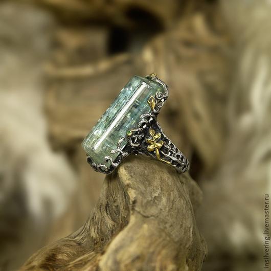 """Кольца ручной работы. Ярмарка Мастеров - ручная работа. Купить Кольцо """"Живая Вода"""". Handmade. Голубой, кольцо, бохо, изумруд"""
